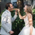 Moments wedding waffles on a stick