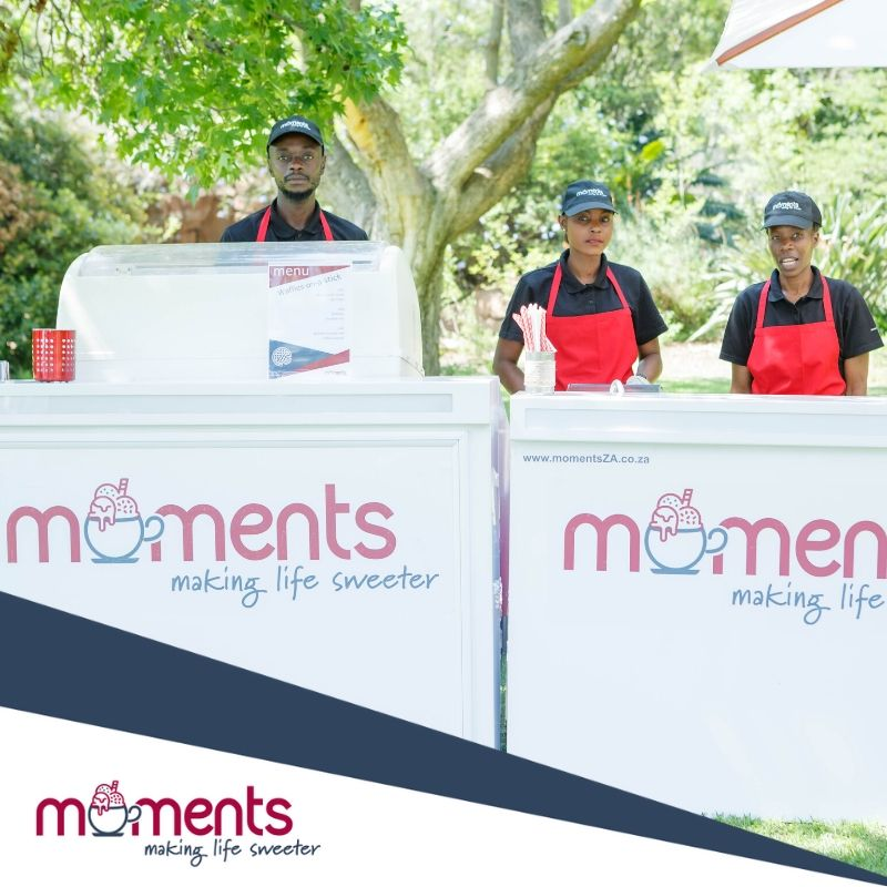 Moments ice-cream and waffle bars