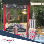 Mobile popcorn bar for hire