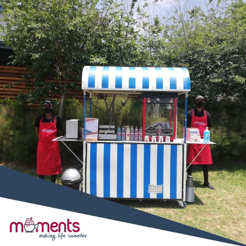 Moments Covid popcorn and waffle parlour