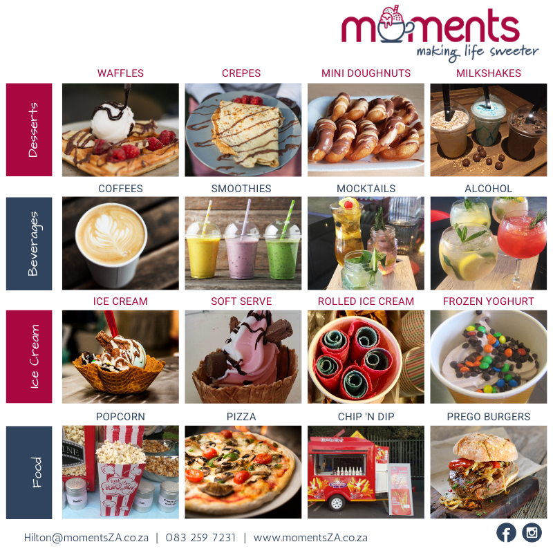 Moments fun foods for events