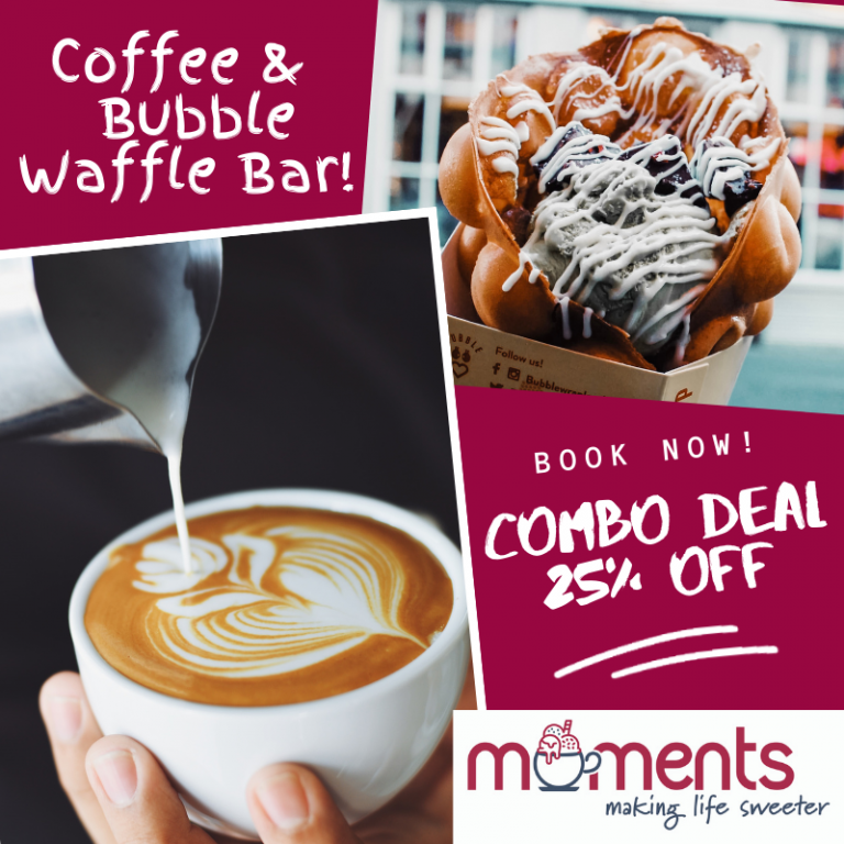 25% off a coffee and waffle bar