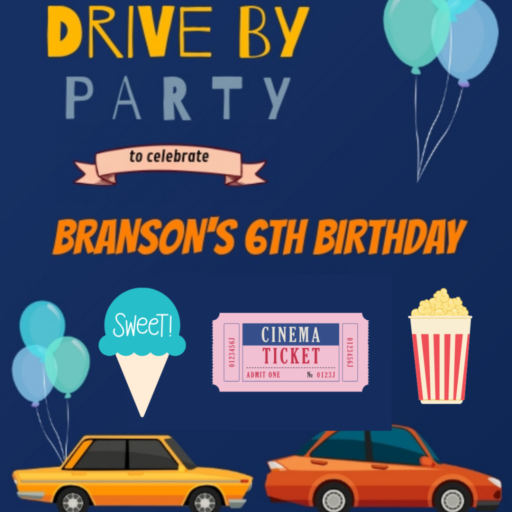 Moments drive-by party theme