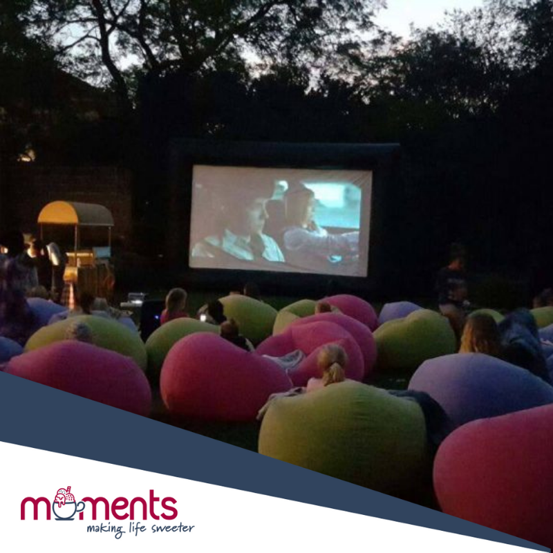 Moments outdoor movie party theme