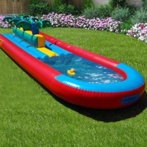 Double lane inflatable slide_Moments