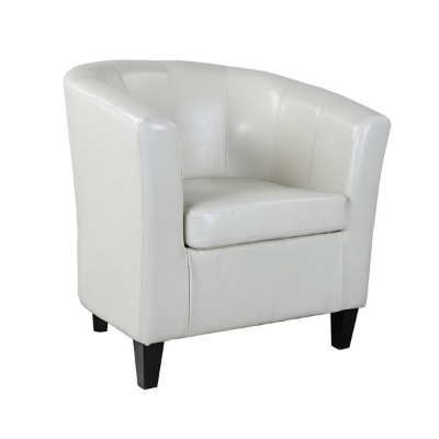 Black Leather Club Chair CH030White Leather Wingback Chair CH035 White Leather Tub Chair