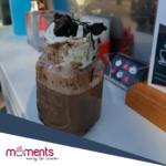 Moments Walnut Brownie vegan hot chocolate