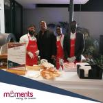 Moments pizza team including dj fressh