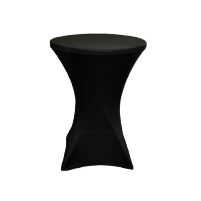 Black fitting cocktail table cloth_Moments